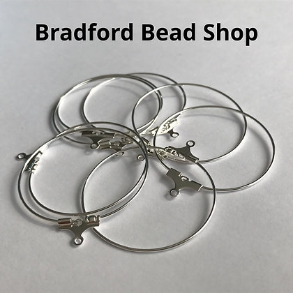 Beading Loop - Silver Plated - 30mm