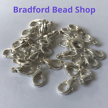 Lobster Clasps - 10mm x 5mm - Silver colour