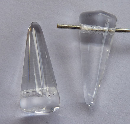 Glass Spike Beads - Clear Translucent