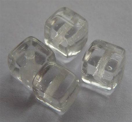 Glass Bead - Cubed Translucent/Clear