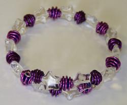 Memory Wire Bracelet Kits - Starry Pinks