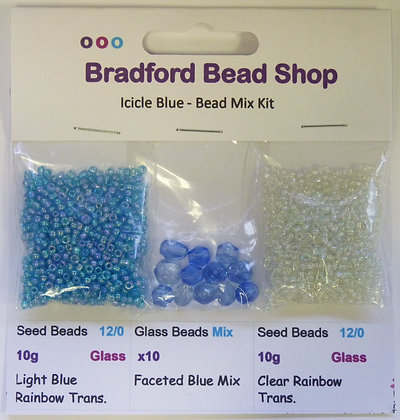 Bead Mix Kit - Icicle Blue