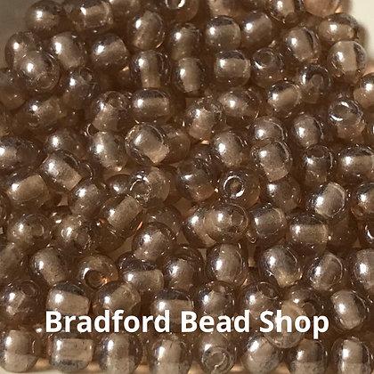 Glass Round Beads - Beige Translucent - 3mm