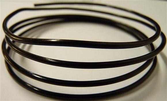 Alimunium Wire - 2mm thick - x 1 Metre length - Black Soft Matte Colour