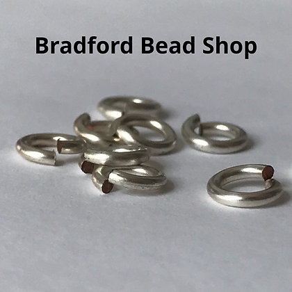 Jump Rings - 5mm x 1mm - Silver Plated