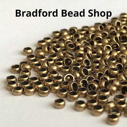 Crimp Beads - Antique Brass Colour