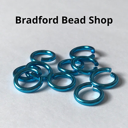 Jump Ring - 10mm x 1.7mm - Turquoise