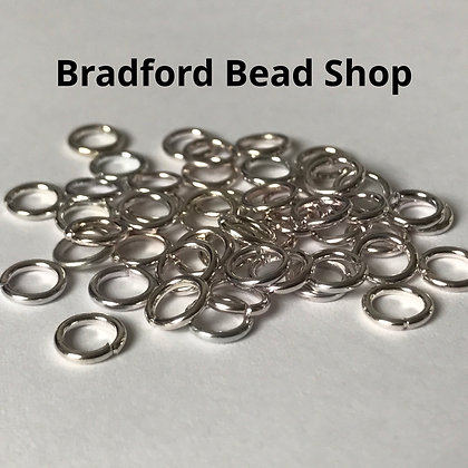 Jump Rings - 6mm x 1mm - Silver Plated