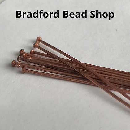 Head Pins - Copper Plated - 40mm x 0.7mm