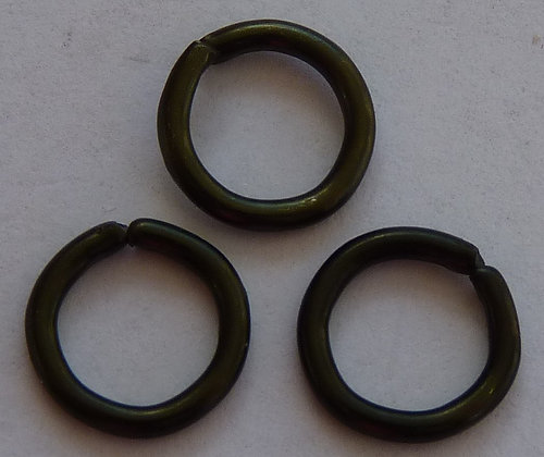 Jump Ring - Dark Green/Brown - 8mm x 1.2mm