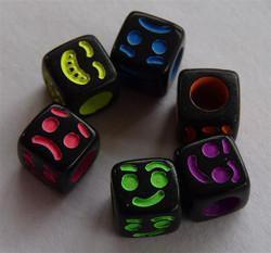 Acrylic Cube Face Beads