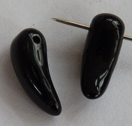 Glass Droplet Beads - Black Opaque (Tth)