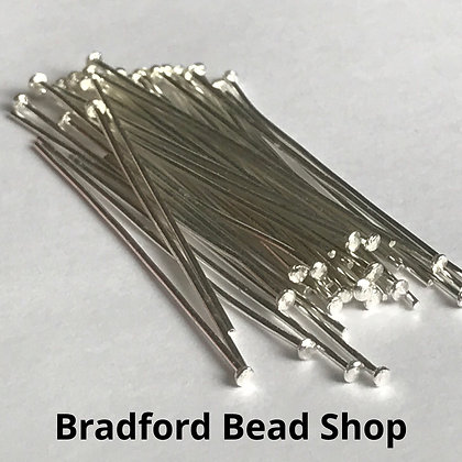 Head Pins - Silver Plated - 40mm x 0.7mm