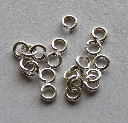 Jump Rings - Silver Plated - 3.5mm x 0.8mm