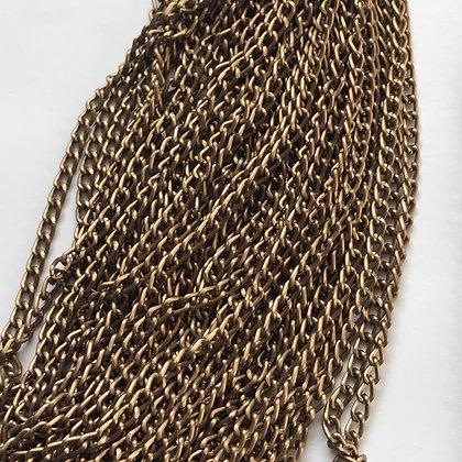 Aluminium Chain - Oval - 0.8 x 3 x 4.6mm - Bronze