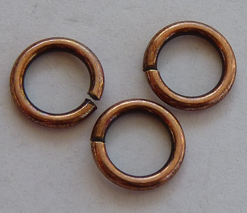 Jump Rings - Copper colour - 6.5mm x 1mm