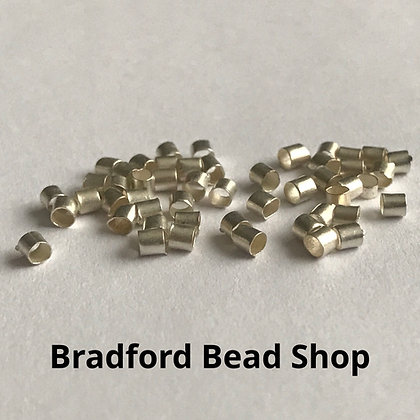 Tube Crimp Beads - Silver Colour