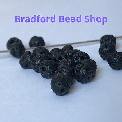 Lava Stone Beads - 4mm