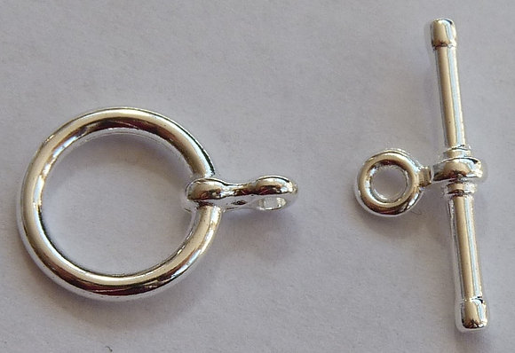T-Bar Clasp - Silver Plated