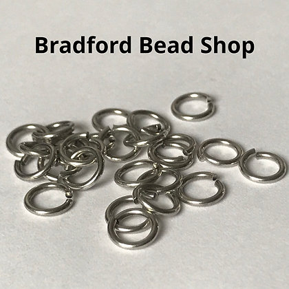 Jump Rings  - 5.5mm x 0.8mm - Silver Colour