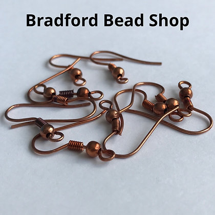 Fish Hook Earring Wires - Copper Colour - 18mm