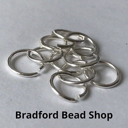 Jump Rings - 8mm x 1mm - Silver Plated