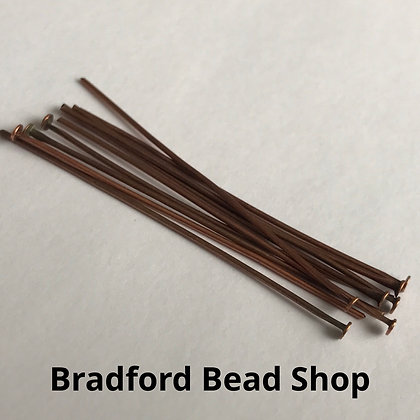 Head Pins - Copper Plated - 50mm x 0.7mm