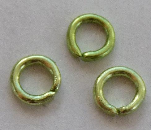 Jump Ring - 4mm x 0.8mm - Aluminium Green