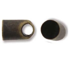 Antique Brass Oval End Cap - 5mm x 8mm