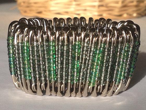 Pintastic Bracelet Kit -Translucent Green Rainbow & Silver Lined Olive Green