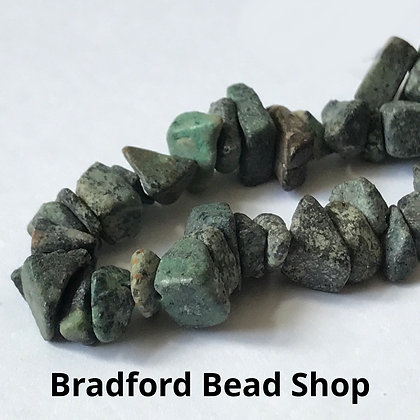 African Turquoise Chip Beads - app. 7-4mm