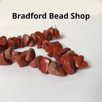 Red Jasper Chip Beads - app. 7-4mm