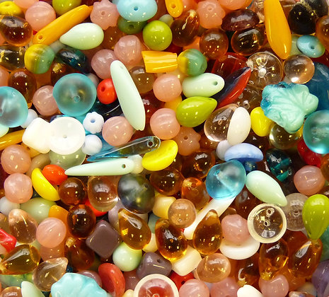 Glass Mixed Beads - (001) - 10g