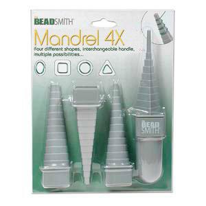 Mandrel - 4 pieces (4 shapes) - Plastic