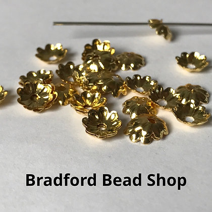 Bead End Cup (Plain) - 7mm - Gold Plated