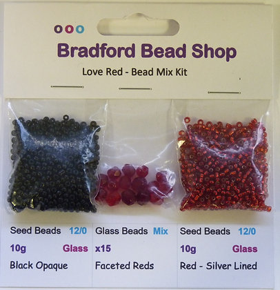 Bead Mix Kit - Love Red