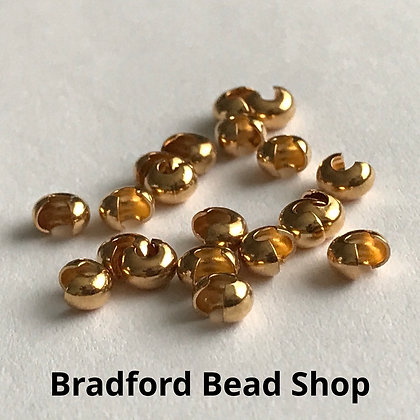 Crimp Bead Cover - Gold Plated