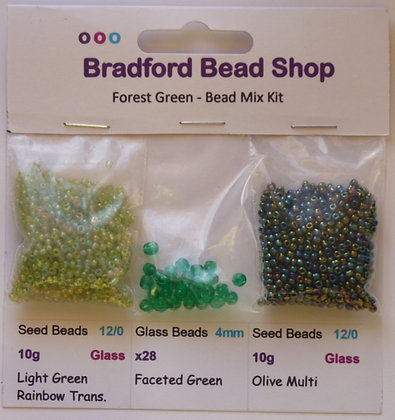 Bead Mix Kit - Forest Green