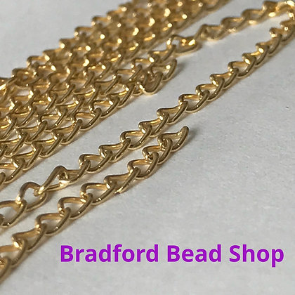 Steel Chain - 1.7mm - Gold Colour