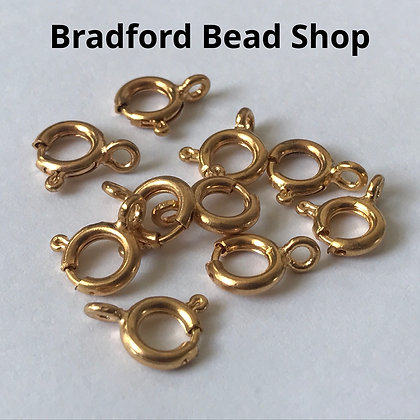 Springring Clasps - 10mm - Gold Plated