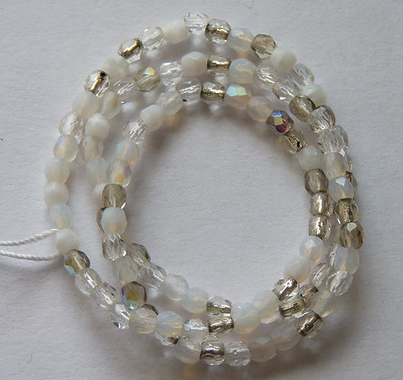 Glass Faceted Rounded Beads - Light Mix