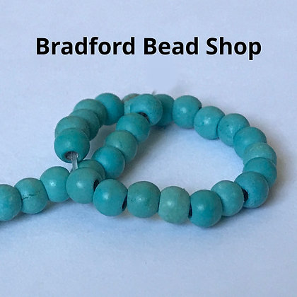 Turquoise Howlite Round Beads - 3mm