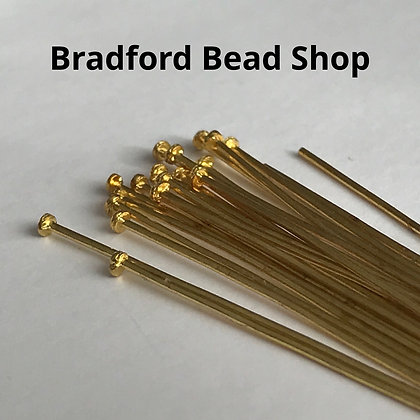 Head Pins - Gold Plated - 40mm x 0.7mm