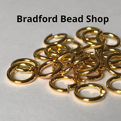 Jump Rings - 6.5mm x 1mm - Gold colour