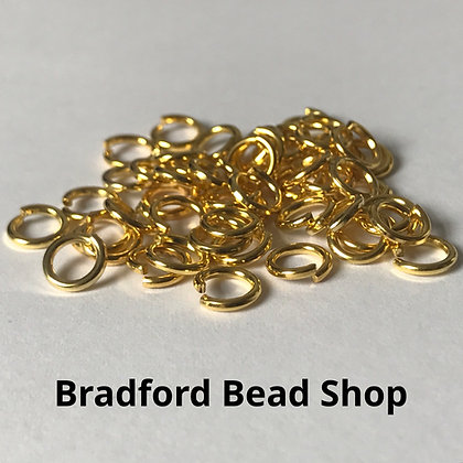 Jump Rings - 6mm x 1mm - Gold Plated