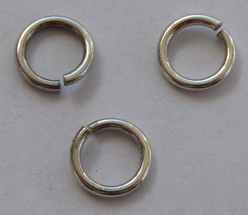 Jump Rings - Silver - 5.5mm x 0.8mm