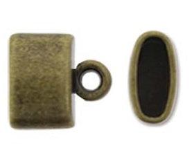 Oval End Caps - 5.4mm x 7.5mm - Antique Brass Colour