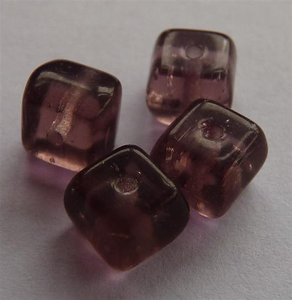 Glass Bead - Cubed Lilac Translucent
