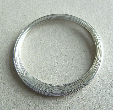 Memory wire - Silver plated - diameter 6cm - 0.6mm thickness