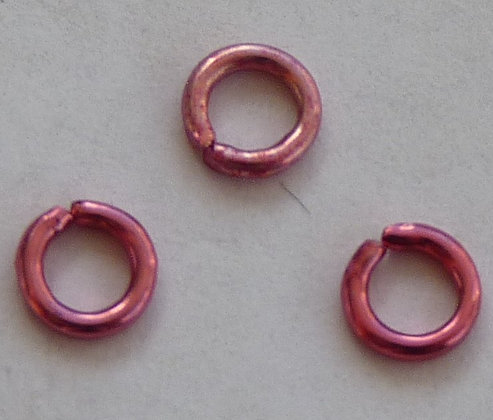Jump Ring - Pink - 4mm